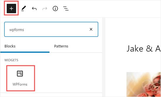 Thêm khối WPForms vào trang của bạn