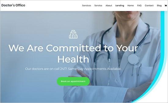 Chủ đề Y tế Divi