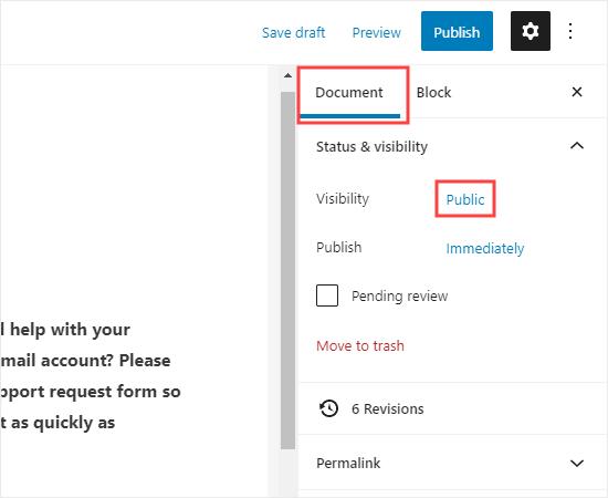 Chỉnh sửa cài đặt hiển thị của trang