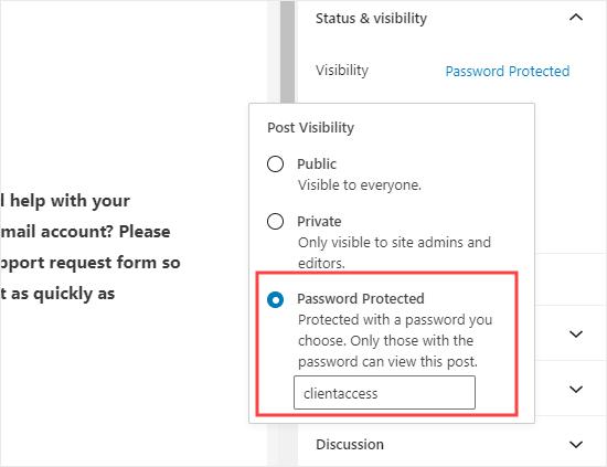Mật khẩu bảo vệ trang có biểu mẫu trên WordPress