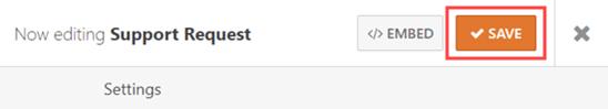 Đảm bảo bạn lưu các thay đổi của mình vào mật khẩu bảo vệ biểu mẫu WordPress của bạn