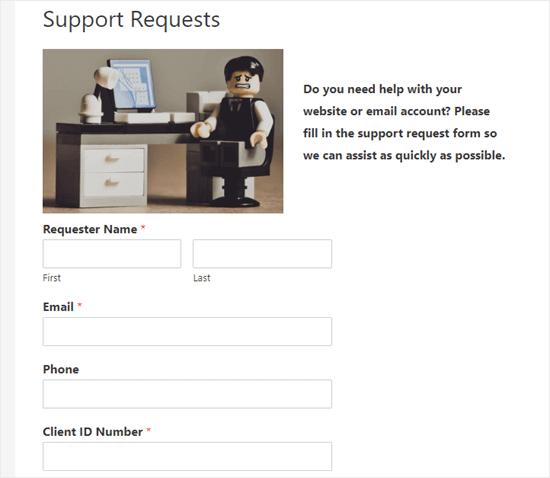 Biểu mẫu hiển thị sau khi người dùng nhập mật khẩu