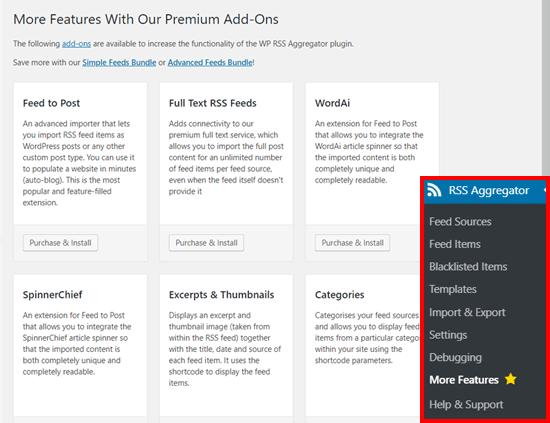 Phần bổ trợ plugin WP RSS Aggregator